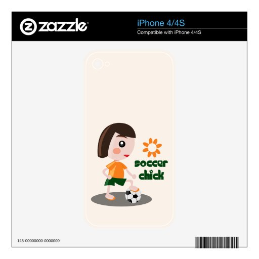 Soccer Chick iPhone 4 Skins