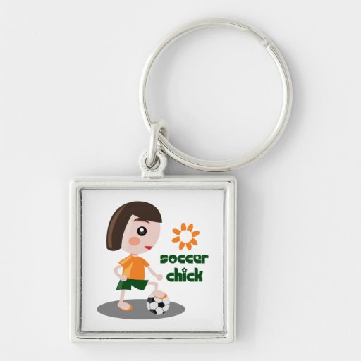 Soccer Chick Keychains
