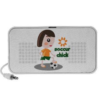 Soccer Chick Laptop Speakers