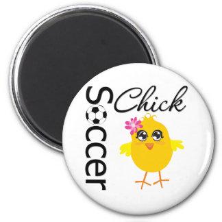 Soccer Chick Fridge Magnet
