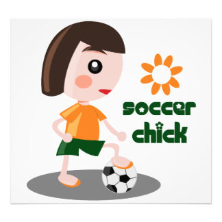 Soccer Chick Photo Print