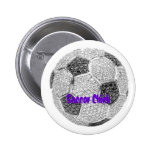 Soccer Chick Pinback Buttons