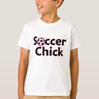 Soccer Chick Player Name/Number Kids T-Shirt
