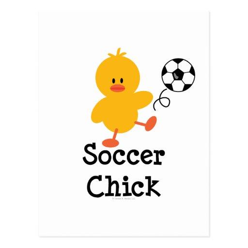 Soccer Chick Postcard