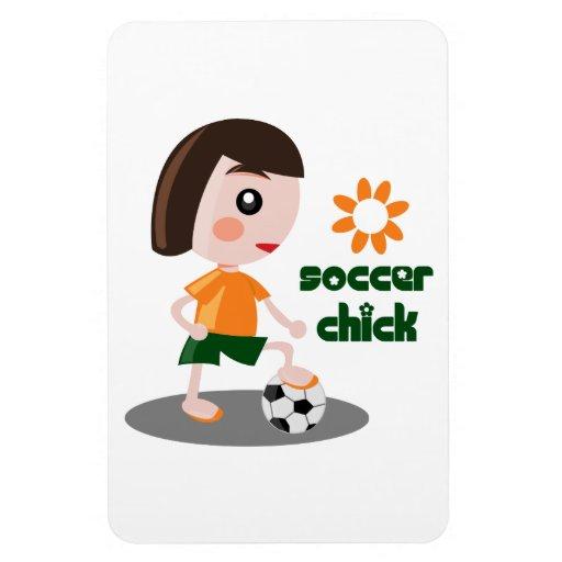 Soccer Chick Flexible Magnet
