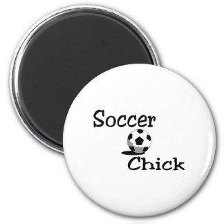 Soccer Chick Refrigerator Magnet
