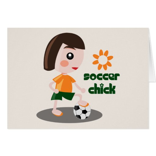 Soccer Chick Stationery Note Card