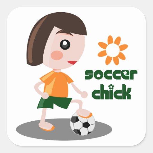 Soccer Chick Sticker