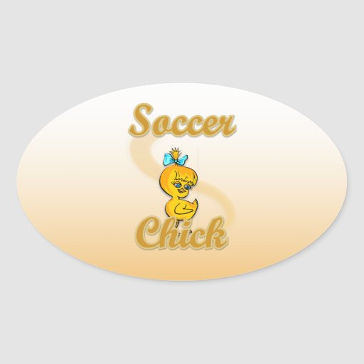 Soccer Chick Oval Stickers