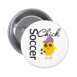 Soccer Chick v2 2 Inch Round Button