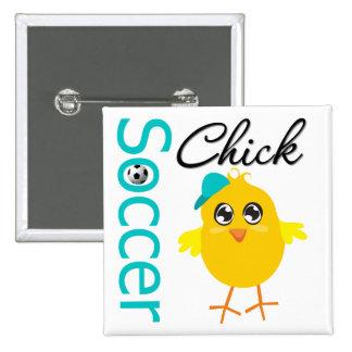 Soccer Chick v2 2 Inch Square Button