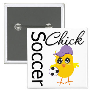 Soccer Chick v2 2 Inch Square Button