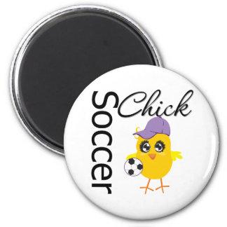 Soccer Chick v2 Fridge Magnet