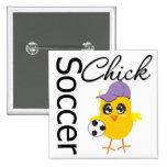 Soccer Chick v2 Pinback Button