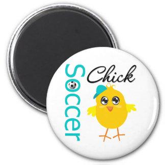 Soccer Chick v2 Refrigerator Magnet