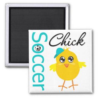 Soccer Chick v2 Refrigerator Magnets
