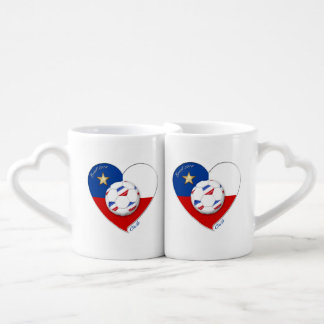 "Soccer ""CHILE"" 2014. National Chilean soccer team Coffee Mug Set"