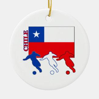 Soccer Chile Ceramic Ornament