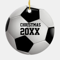 Soccer Christmas 20XX | Personalizable Sport Gifts Ceramic Ornament