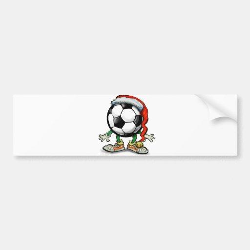 Soccer Christmas Bumper Sticker