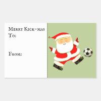 Soccer Christmas Gift Tag