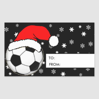 Soccer Christmas Gift Tag Stickers