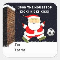soccer Christmas gift tags