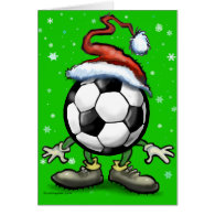 Soccer Christmas Greeting Cards
