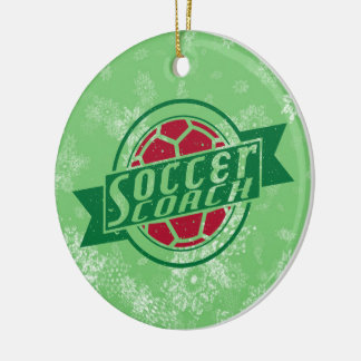 Soccer Christmas Ornament, Soccer Coach Ceramic Ornament