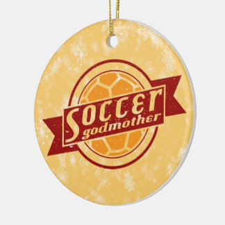 Soccer Christmas Ornament, Soccer Godmother