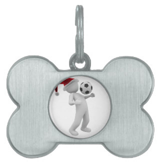 soccer christmas pet ID tag