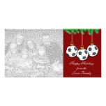 Soccer Christmas Photo Card