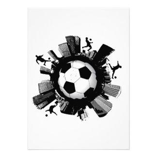 Soccer City Personalized Invite