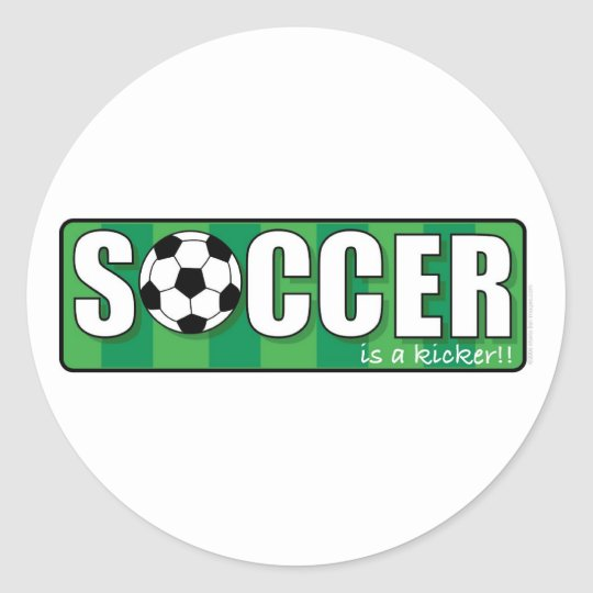 Soccer Classic Round Sticker