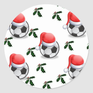 SOCCER CLASSIC ROUND STICKER