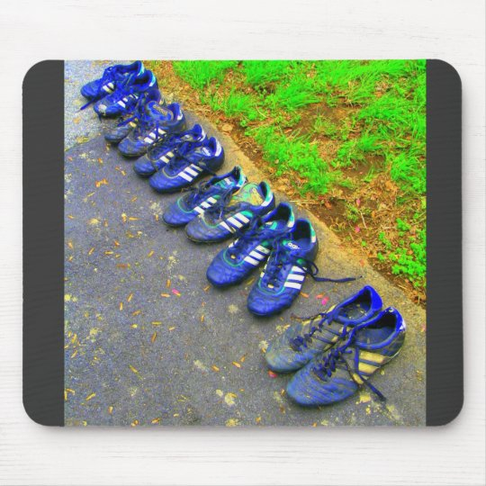 soccer cleats mouse pad