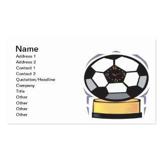 Soccer Clock Double-Sided Standard Business Cards (Pack Of 100)