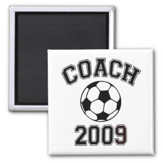 Soccer Coach 2009 2 Inch Square Magnet