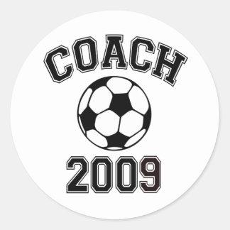 Soccer Coach 2009 Classic Round Sticker