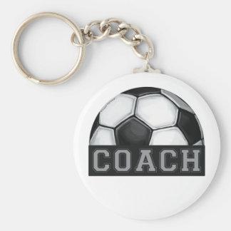 Soccer Coach Basic Round Button Keychain