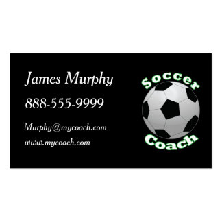 Soccer Coach Double-Sided Standard Business Cards (Pack Of 100)