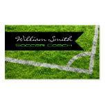 Soccer coach business card tarjeta de negocio