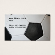 Soccer Coach Business Cards at Zazzle
