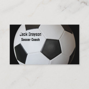 Football business cards zazzle soccer coach business cards colourmoves