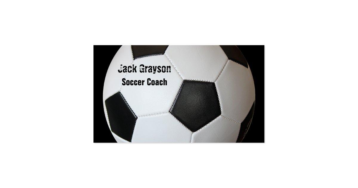 soccer coach business card