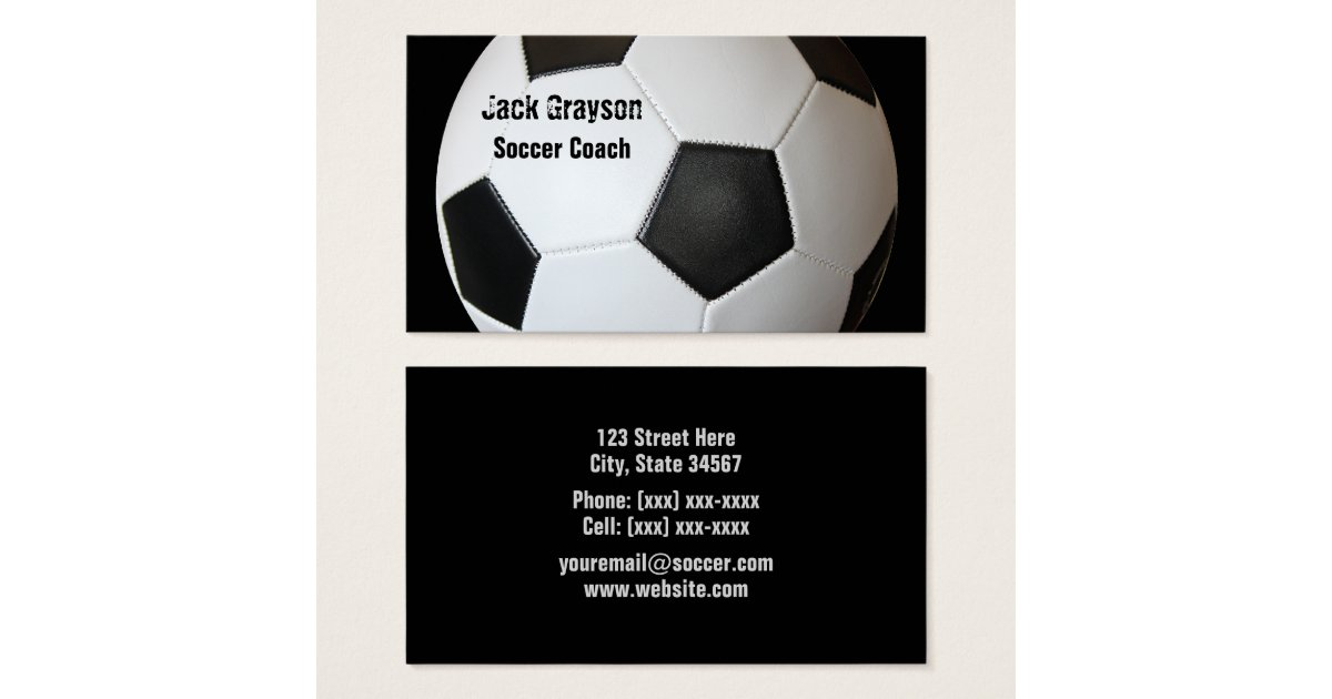 Soccer Coaching Business Cards | Best Business Cards