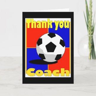Soccer Coach card card