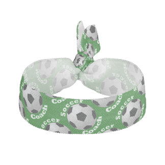 Soccer Coach Elastic Hair Tie