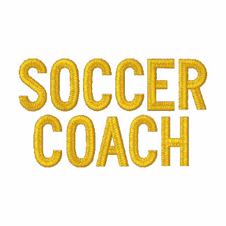 SOCCER COACH EMBROIDERED HOODY