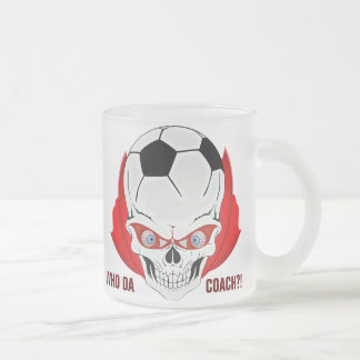 Soccer Coach Frosted Glass Coffee Mug